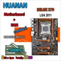 HUANAN Golden Deluxe Version X79 Gaming Motherboard For Intel LGA 2011 ATX 4 Combos 4 X