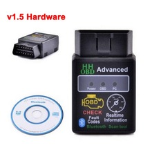 High Quality ELM327 HH OBD Advanced Bluetooth 1.5 ODB2 OBDII Car Auto Diagnostic ELM 327 v1.5 Scanner Tool LR-20