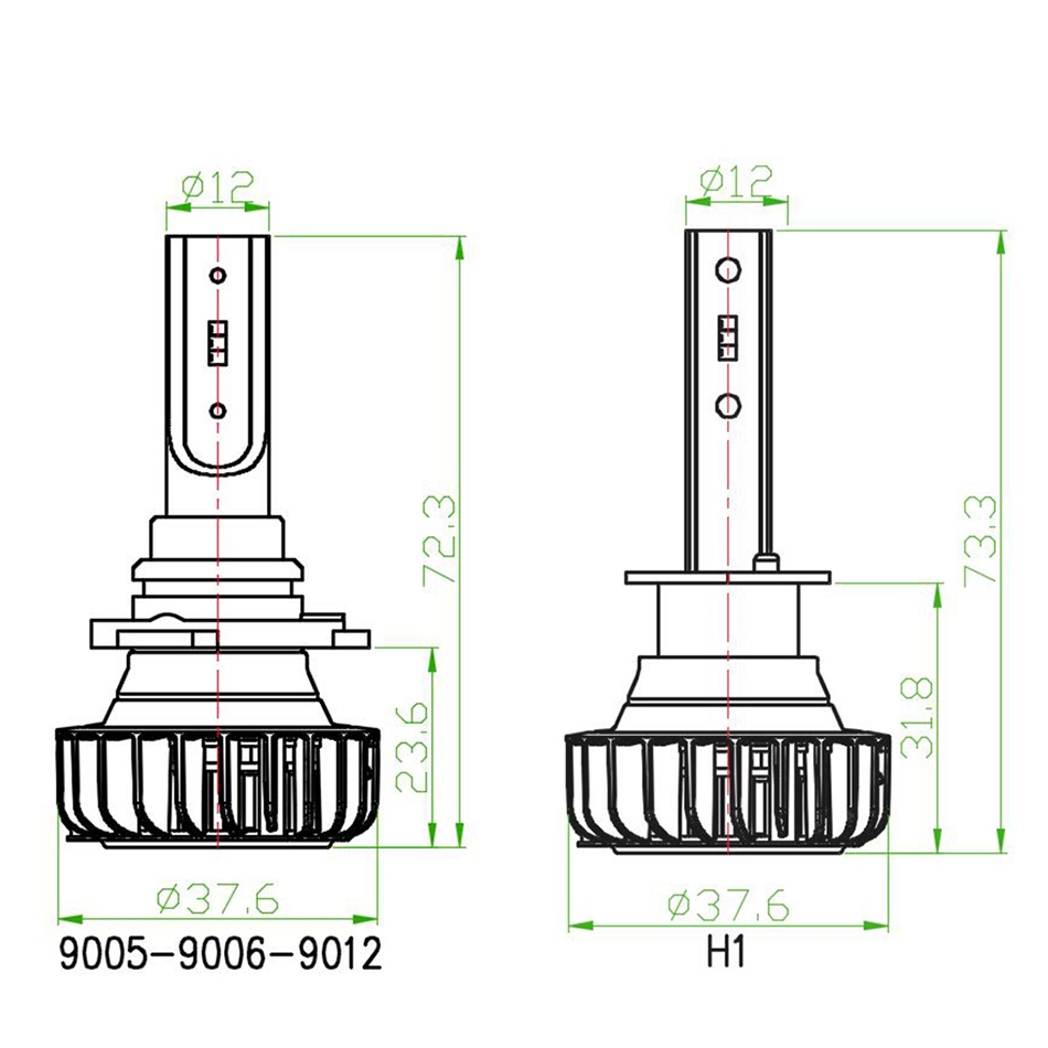 CNSUNNYLIGHT H7 LED H4 H11 H1 9005 with Philips ZES Chips 9900LM 72W pair Car Headlight Bulb 9006 H8 Fog Lamp Headlamp 12V 24V (25)
