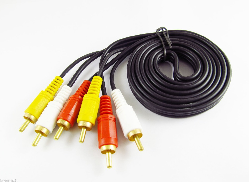 Composite AV Audio Video Cable Male M//M New 24/' L + R + V 3 RCA