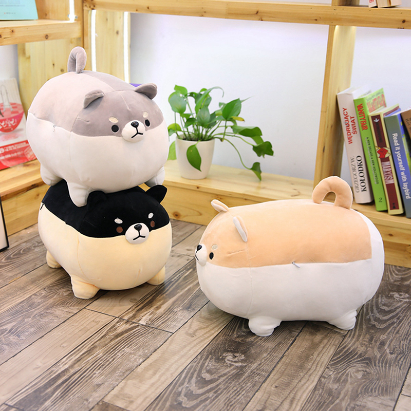 Fat Cute Shiba Inu Dog Plush Toy Stuffed Soft Animal Kawaii Corgi Chai Cartoon Pillow Christmas Gifts For Kids Valentine Present