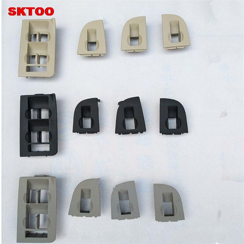 SKTOO 4PCS For Audi A4 A6 C5 lifter switch frame decorative frame mask frame gray