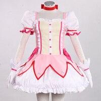 Halloween Costume Cosplay Masquerade Clothing PuellaMagiMad OkaMagica Kaname Madoka Cos For Girl Custom Made Clothes