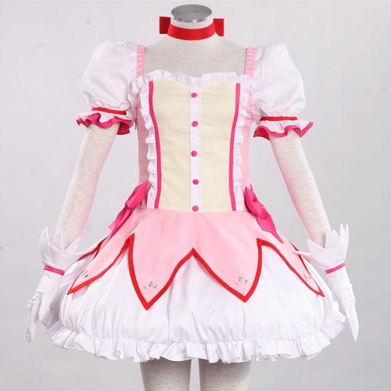 Puella Magi Madoka Magica Kaname Madoka cosplay costume Halloween costume for women anime clothes girls Fancy dress