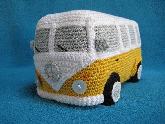Amigurumi crochet Bus voiture jouet poupée hochets