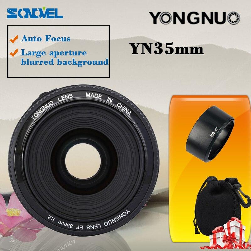 Yongnuo YN35mm F2 35mm F/2.0 AF MF Wide Angle Fixed Lens EF for Canon Camera EOS объектив для фотокамеры other yongnuo 50 ef 50mm f 1 8 af mf canon yn ef 50mm f1 8
