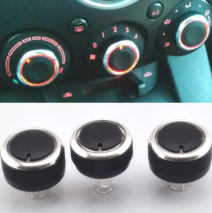3pc lot fit for mazda 2 m2 demio 07 14 switch knob knobs heater heat climate control buttons. Black Bedroom Furniture Sets. Home Design Ideas