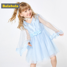 BalabalaChildrens wear girls dress summer 2019 new children sweet yarn child baby mesh lace dresses