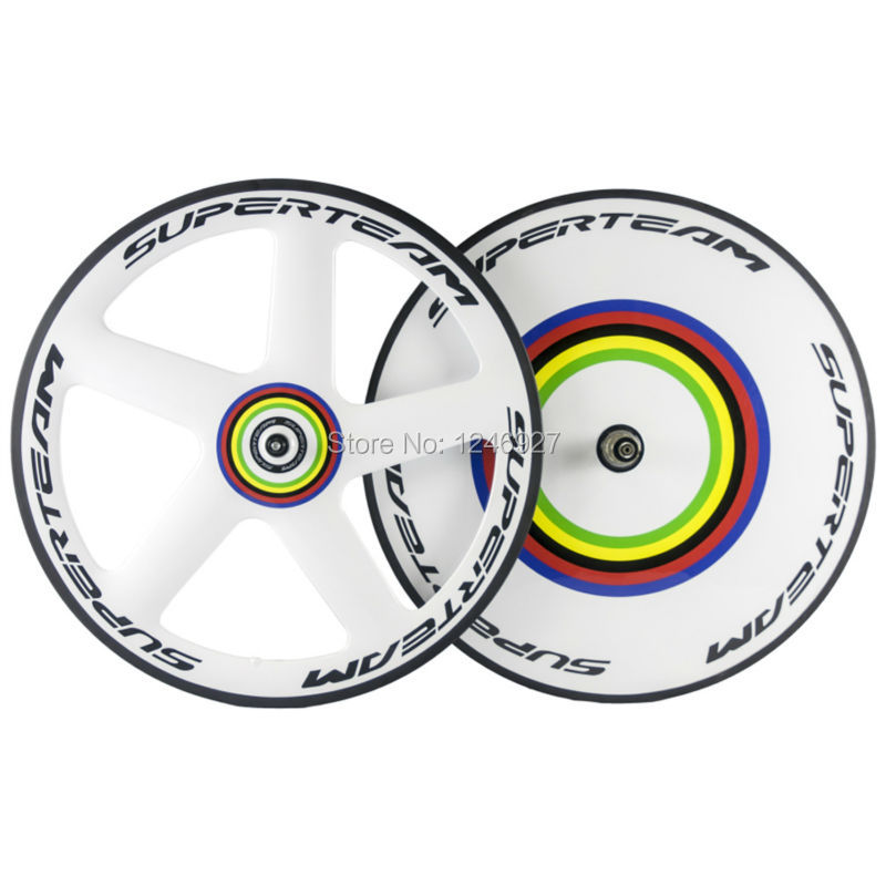 Chinese Carbon Fibre T700 Carbon Wheelset Front <font><b>5</b></font> <font><b>Spoke</b></font> <font><b>Wheel</b></font> And Rear Disc <font><b>Wheel</b></font> Clincher Carbon <font><b>Wheels</b></font> image