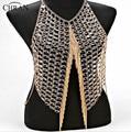Chran Luxury Fashion Women Full Body Multi Layer Vest Statement Necklace Chain Slave Necklace Body Chain Halter Jewelry  BDC436