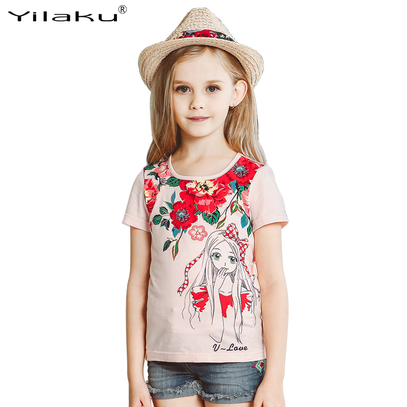 Girls t shirts summer kids clothes short sleeve children t for Girls in t shirts