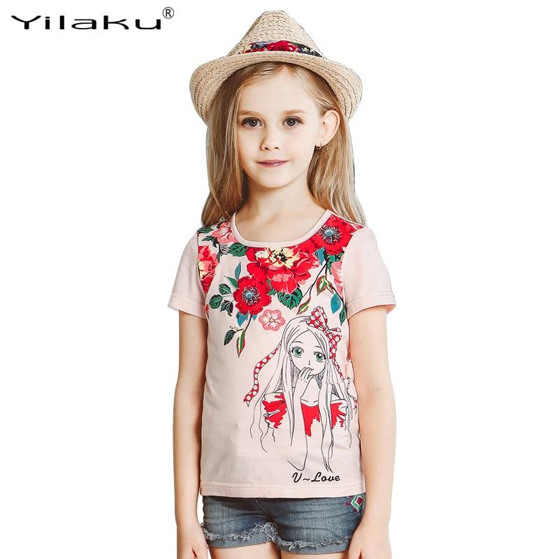 Girls T Shirts Summer Kids Clothes Short Sleeve Children T