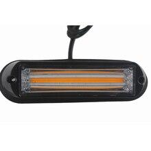 1 Pcs 4W Car COB Grill Light LED Strobe Warning 12V 24V Flash Lamp Yellow Red White