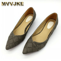 MVVJKE Vintage Style Women S Pointed Toe Pumps Spring Autumn PU Shallow Slip On Women Low