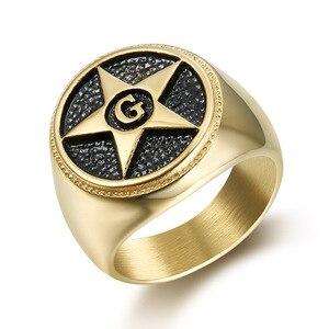 Мужское кольцо с надписью Star G, модное золотое/серебряное кольцо из нержавеющей стали