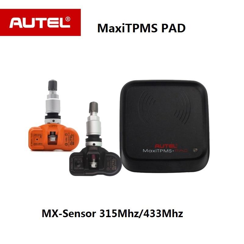 Autel MX-Capteur 315 mhz et 433 mhz 2 dans 1 Métal TPMS Capteur Programme Maxi TPMS Pad Pince -dans OE-Niveau Pneu De Pression Des Pneus Capteur