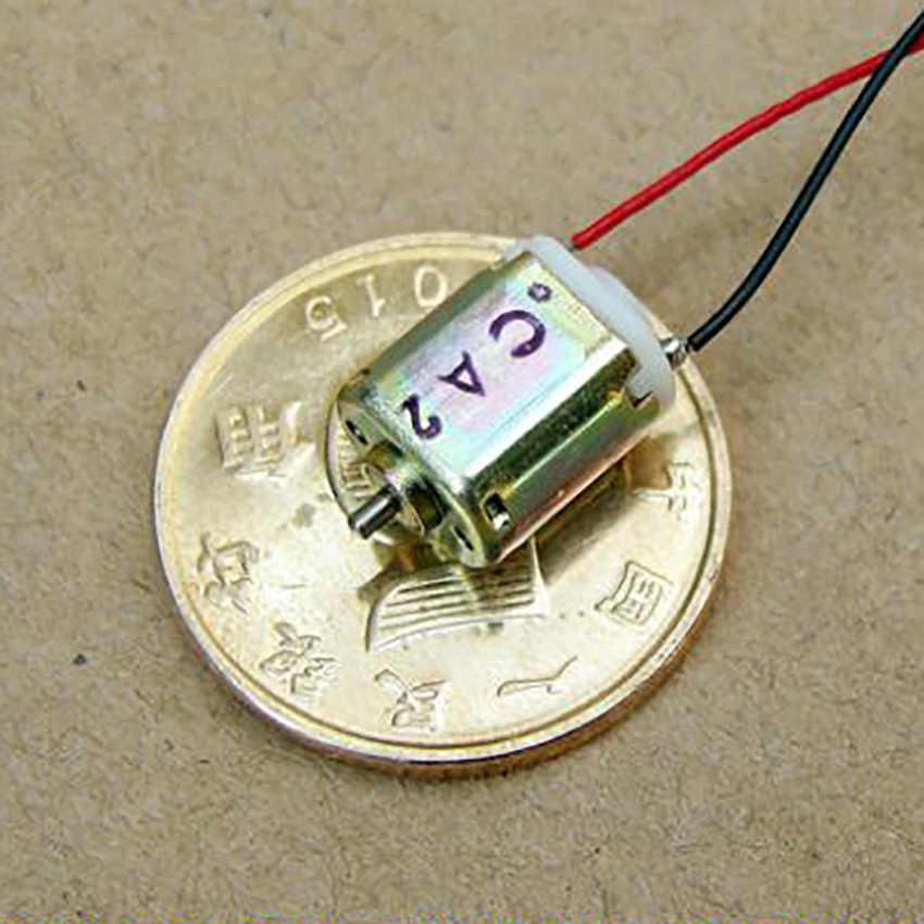 1PC Ultra-miniaturowy silnik prądu stałego DC3V 44000 obr/min wysokiej prędkości o średnicy 1mm mikro silnik małe maszyny elektryczne wysokiej jakości HOT