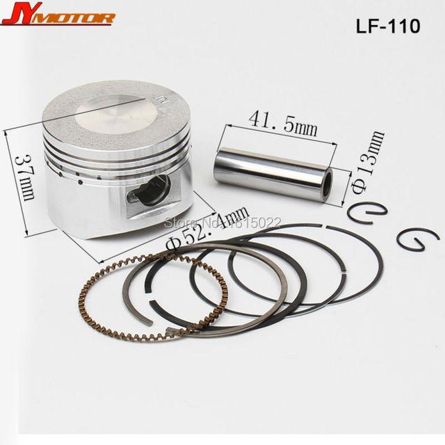 Lf lifan 110cc de aceite de refrigeración refrigerado Horizontal 4-Stroke Engine parts motor Engine pistón y anillo Set envío gratis