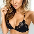 Sexy Lace Decorated Thin Cup Bra Sheer Intimate Bras Lingerie For Women