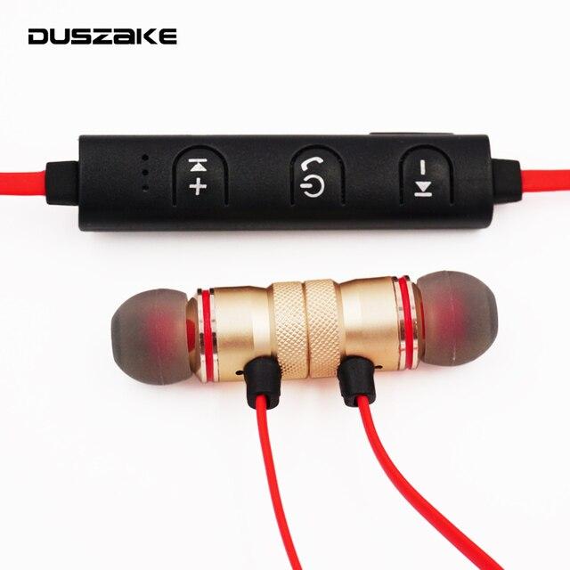 DUSZAKE L16 แม่เหล็กไร้สายบลูทูธหูฟังสำหรับโทรศัพท์หูฟังเบสหูฟังไร้สายบลูทูธสำหรับโทรศัพท์ Xiaomi วิ่ง