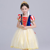 S6078 Fashion Girl Cosplay Costume Children's clothes Snow White Girls Dress Princess Dress