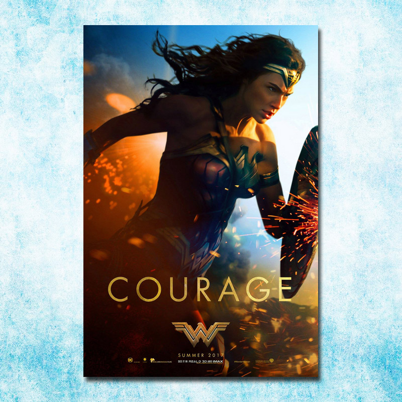 Wonder Woman DC 2017 Movie New Gal Gadot Art Silk Canvas Poster 13x20 24x36 Inch Picture For Room Decor (more)-8
