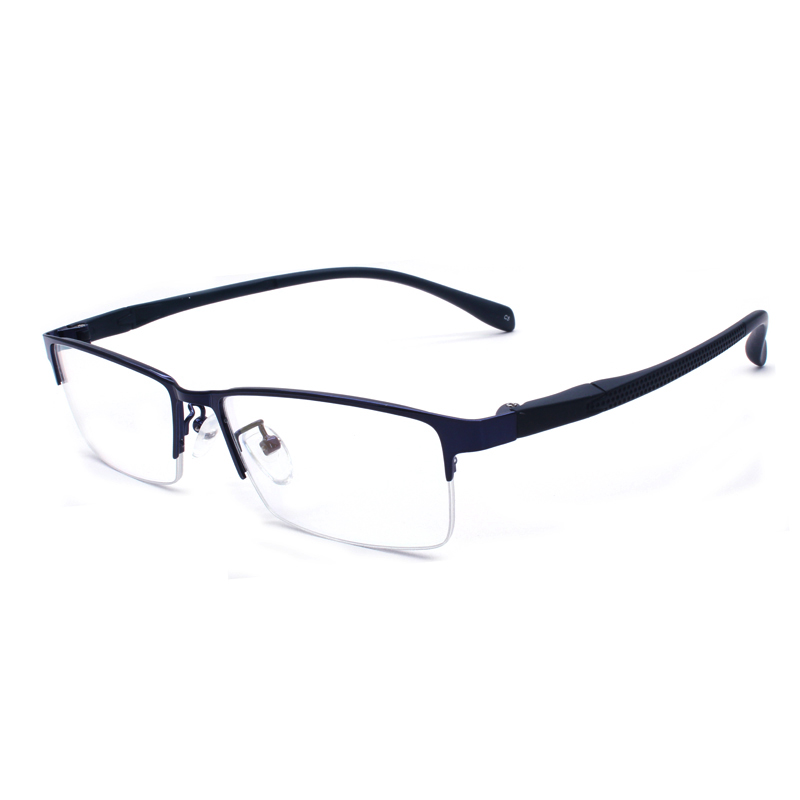 Business Semi Rim Eyeglasses Frame Rectangular Shape Fashion Brand Prescription Glasses Spectacles Eyewear for Male in Men 39 s Eyewear Frames from Apparel Accessories