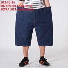 Men Shorts Denim High Waist Summer Short Jeans Loose Masculino Mens Homme Oversized Big Plus Size 48 50 52 54 56 Bermuda Jeans