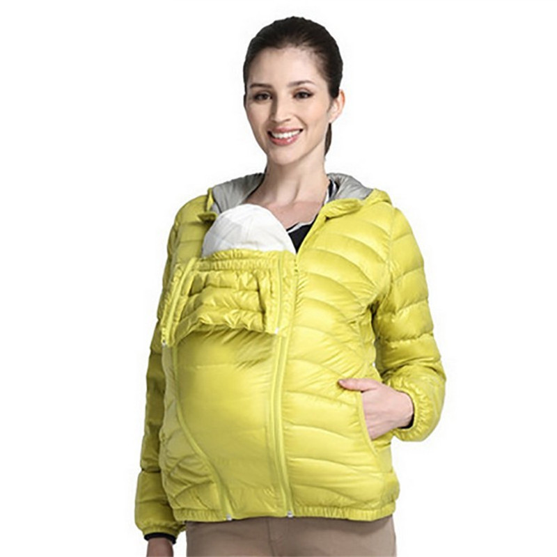 ФОТО pregnant down 2016 winter coat removable a multi-purpose clothing hooded collar big yards loose warm maternity    e