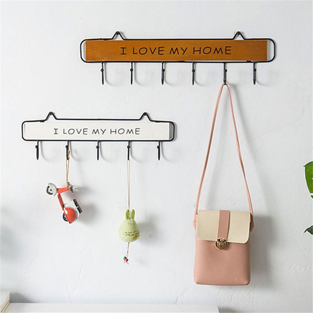 4/5/6 Pcs Cute Wall Mounted Clothes Hanger Hooks Hat Key Holder Laundry Coat Rack Hanging Storage Shelf For Home