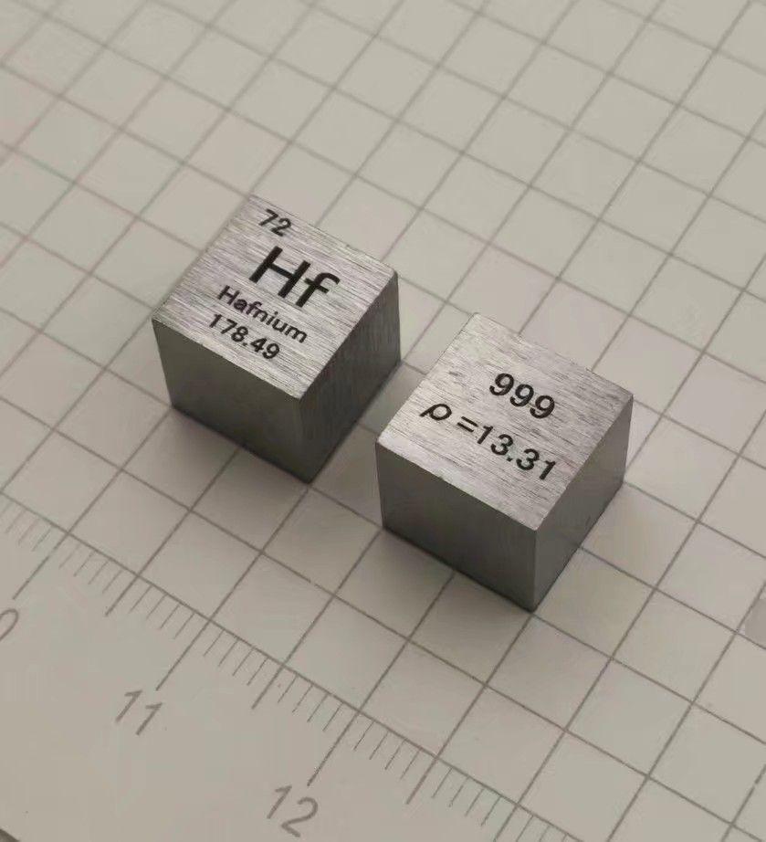 Hafnium Metal 10mm Density Cube 99.9% Pure for Element Collection цена