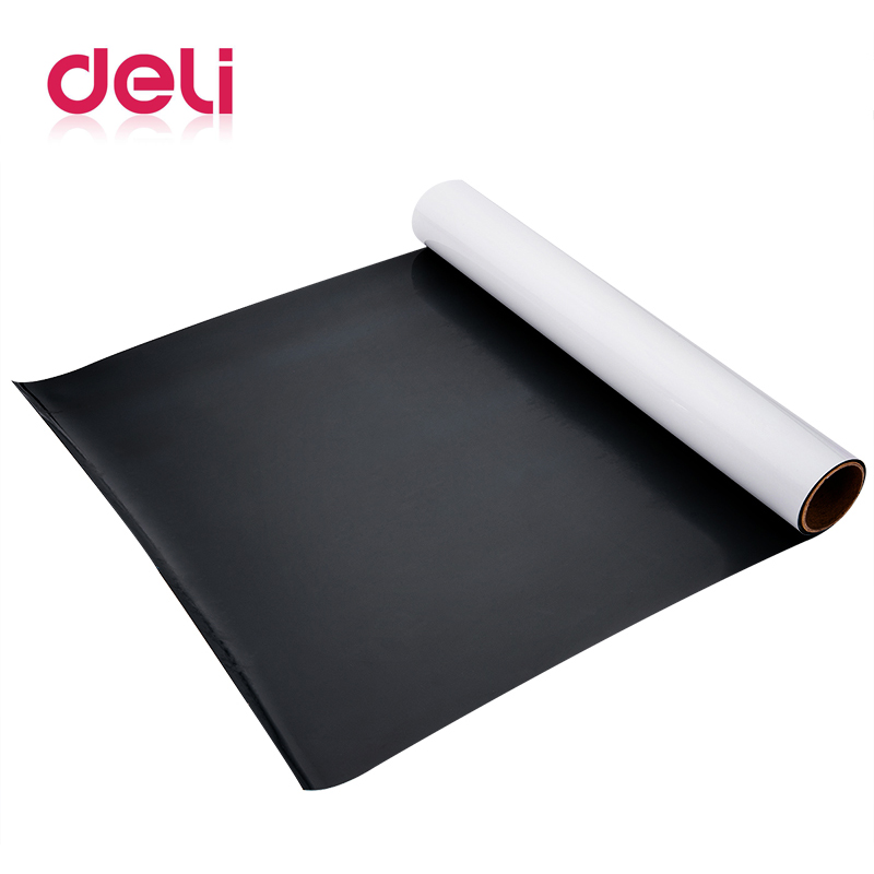 Deli Free Cut Magnetic Whiteboard Soft Iron Wall Sticker Office Message Erasable Whiteboard Paper Painting Whiteboard Sticker