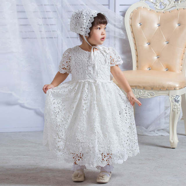 1ae843c361e0b Newborn Baby Girl Lace Dress Baptism Sets Baby Gown Christening Dresses  First Communion Infant Birthday Party Wear for 0-2 Years
