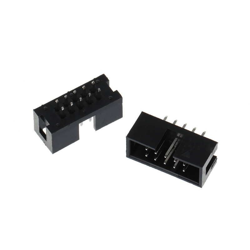 2018 Fashion 10 Pcs DC3 10 Pin 2x5 Pin Double Row 2.54mm Pitch Straight Pin Male IDC Box Header Connector