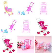 Dollhouse Infant Carriage Stroller Trolley Furniture for Doll Doll Accessories Stroller Bike Car Motorcycle(China)