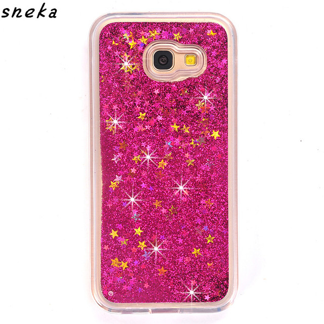 huge discount 856d3 164f4 US $3.21 25% OFF|For Samsung Galaxy J7 Prime/J5 prime phone case Dynamic  Liquid Glitter Sand Quicksand Star Cases Crystal Clear phone Back Cover-in  ...