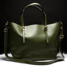 Real Leather Women Bag Big in Women's Shoulder Bags Fashion High Quality Large Women Shopping Bag