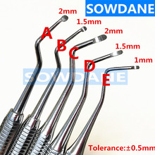 High quality Dental Excavator Spoon Tooth Cleaning Tool Stainless Steel  Double Ends Long Handle