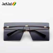 JackJad 2018 Fashion Cool Square Shield Future Style Sunglasses