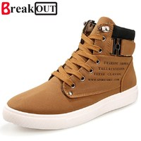 2016 New Fashion Men Boots For Men PU Leather Breathable High Top Men Shoes Cheap Price