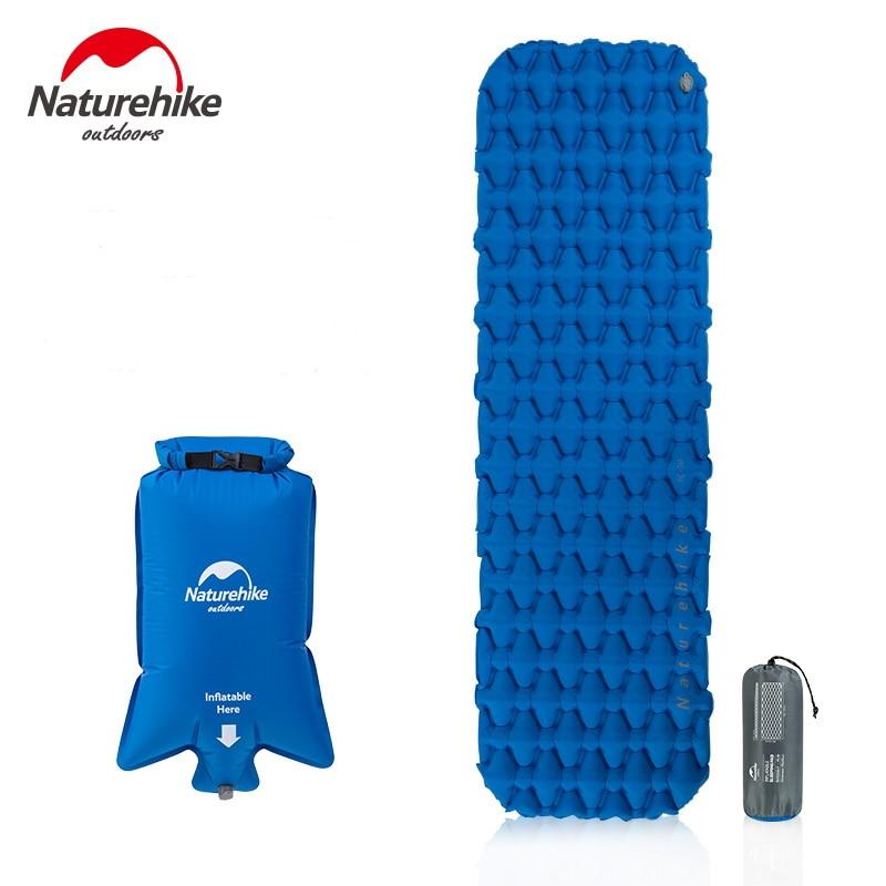 Naturehike Ultralight Inflatable Mattress 1 Single Person Outdoor Sleeping Pads Waterproof Bags Camping Mat W& Fill Air Bag 420g