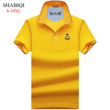 Big Man! S-10XL . 2019 NEW  Men Polo Shirt Summer Short Sleeve Polos Mens Camisa 95%Cotto Baseball coat Pure color