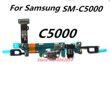 1 pcs USB Charging port module+ Microphone Headphone jack Connector Flex cable For Samsung SM-C5000 C5 Charger Replacement