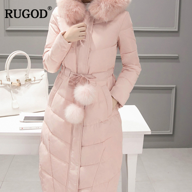 RUGOD 2018 New Elegant Winter Jacket Women Casual Warm Sustans Padded Winter Coats Female Thick   Parkas   Befree Casaco Feminino