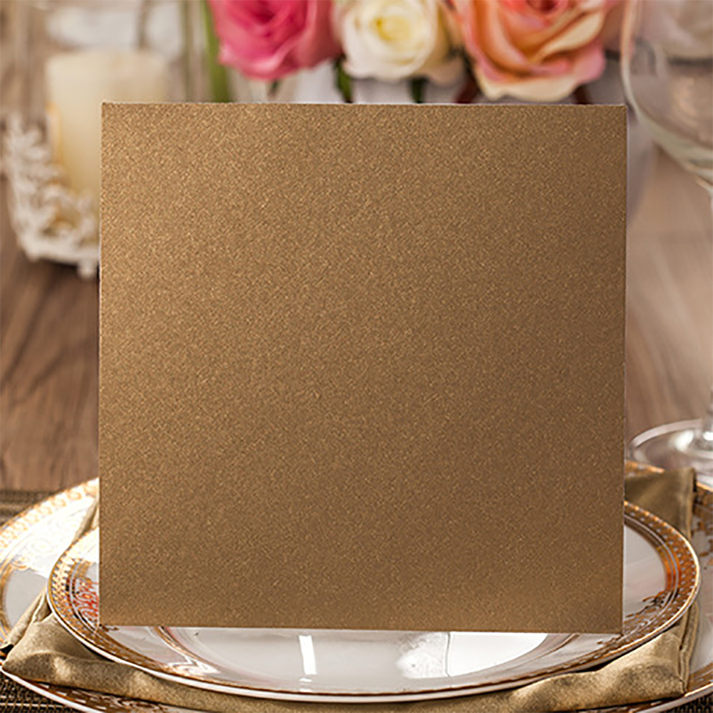 Gold Design Floral Laser Cut Wedding Invitations Blank Printable Cards Paper Invitation For Casamento Convide In From Home