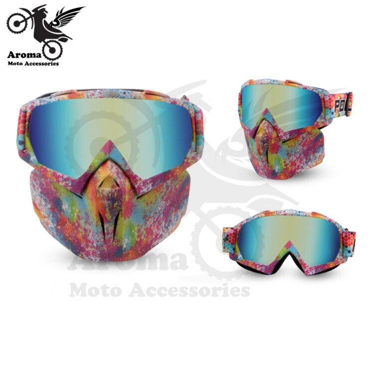 Coloré clair lentille moto rbike protection des yeux moto universelle dirt pit vélo tout-terrain course moto rcycle lunettes moto cross goggle - 6