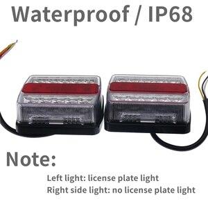 Eonstime 1 комплект 12 в 10 м 10 LED трейлер свет комплект задний свет трейлер свет номерной знак лампа высокое качество водонепроницаемый IP68