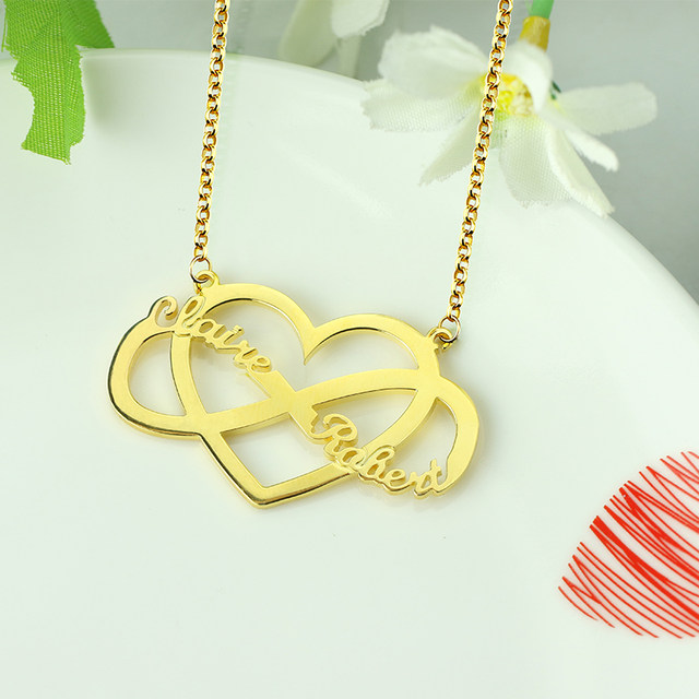 Online Shop Personalized Unique Infinity And Heart Name Necklace