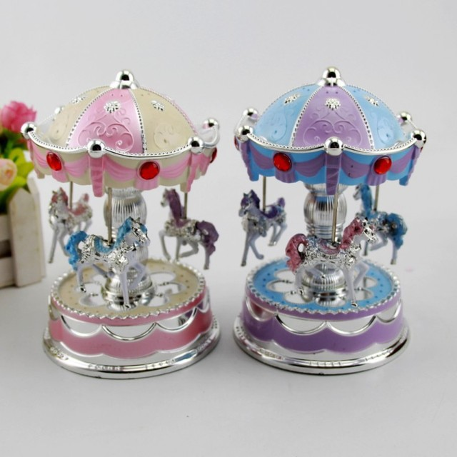 Carousel Music Box Child Baby Game Home Decor Horse Melody For Elise Christmas Wedding Birthday Gift