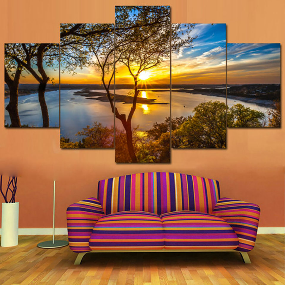 Posters Tableau Wall Art Home Decor Modern 5 Panel ...